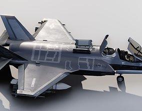 3D asset F35B Lightning II