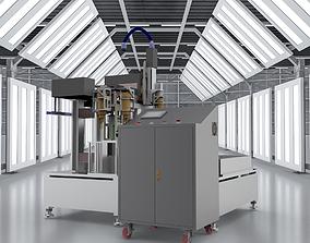 Six axis CNC milling machine 3D model