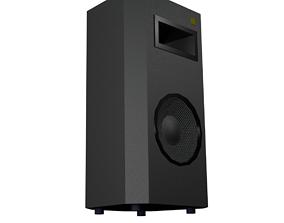 PA Speaker Low-Poly 3D asset