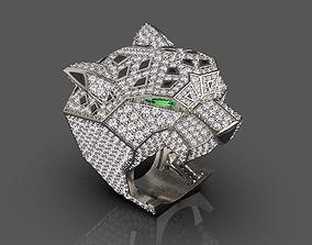 leopard 3D printable model ring female