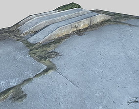 3D model game-ready Concrete loading ramp