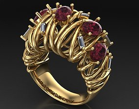 oval fashion ring 3D print model