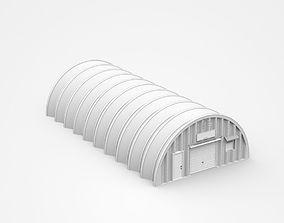 3D model Long Circular Hangar