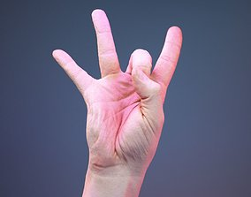 3D asset Finger Number 8