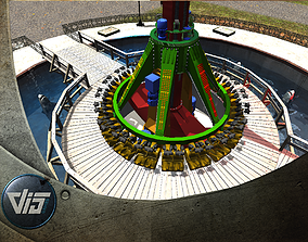 High Detail Fairground Ride 14 - ToppleTower 3D model