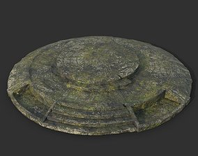 Low poly Ruin Mossy Temple Floor 05 190318 3D model