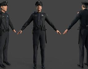 POLICE OFFICER black 3D