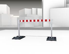 Construction Barrier Version 3 600-32 100x1600mm 3D asset
