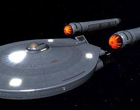 3D model STAR TREK - ASIA CLASS STARSHIP