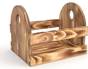 3D model Wood pot
