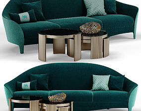 3D Heritage Cortes sofa - Roland table set