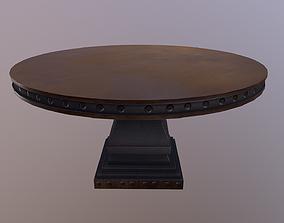 Round Table 3D asset VR / AR ready PBR