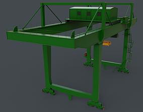 3D model PBR Rail Mounted Gantry Crane RMG V2 - Green