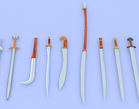 3D model Ancient Sword Collection