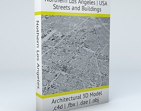 Northern Los Angeles Streets and Buildings 3D model