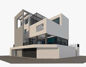 3D model Corner Cubic House Modern Architecture