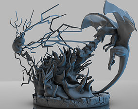 Pokemon Charizard Vs Pikachu Fire And 3D print model 1