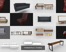 3D model Furniture Pack sofa