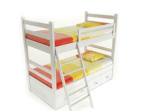3D Twin Size Bunk Bed