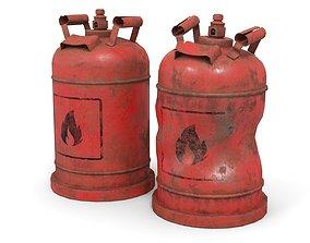 Bottle Cylinder Gas 3D asset