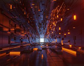 Flythrogh sci fi Cubic Corridor 3D