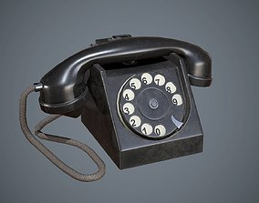 3D model Telephone Black