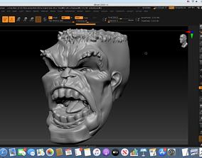 3D print model Immortal Hulk Head roar