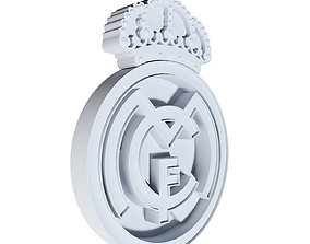 real madrid logo print 3d model