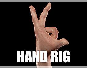 Hand CG Rigged 3D asset