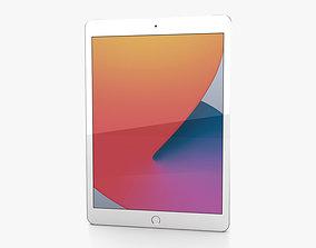 Apple iPad 10-2 2020 Cellular Silver 3D