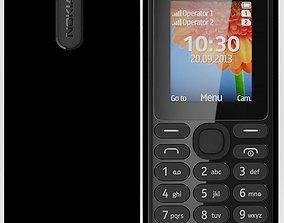 Nokia 108 dual sim Black 3D model