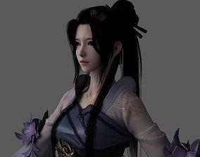 3D asset Chinese beauty Woman Female pretty girl lady 1
