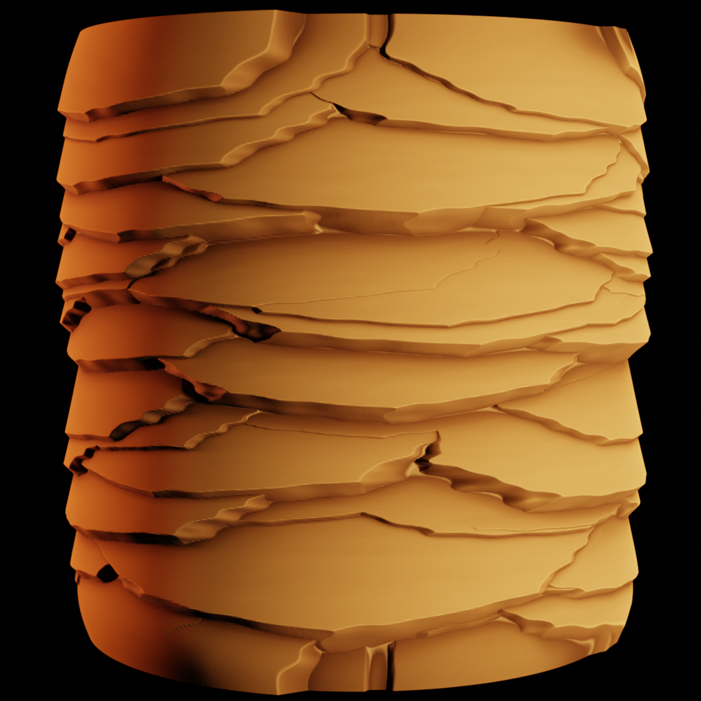 Stylized rock material