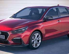 3D model Hyundai i30 N-line 2019
