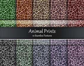 3D Animal Print Fabrics Seamless Textures Set