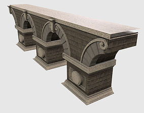 Low Poly PBR Modular Stone Bridge 3D asset