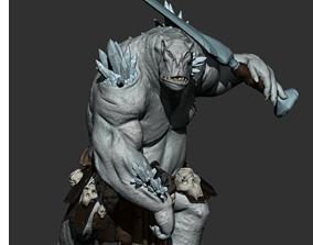 Ice Troll miniature 3D