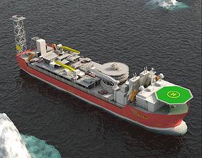 FPSO Balder Offshore Oil Rig 3D asset