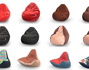 3D asset Bean Bag Collection