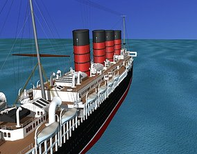 RMS Lusitania 3D rigged