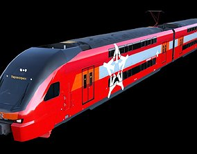 Aeroexpress Stadler KISS 3d