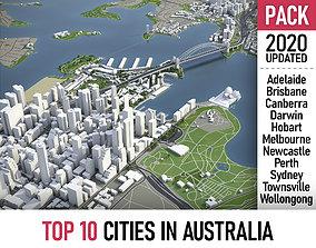 Top 10 Cities in Australia 3D model