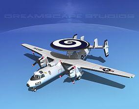 3D model Grumman E-2C Hawkeye V17
