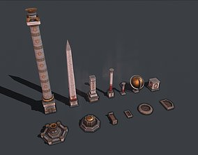 Ancient Monument and Fountain 3D model