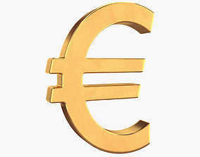 Euro symbol 3D model