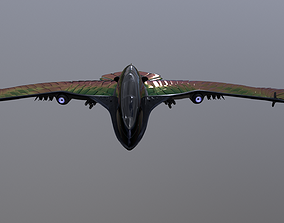 Scfi Space ship The King of the Birds Game Ready 3D model
