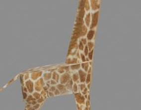Giraffe 3D wildlife