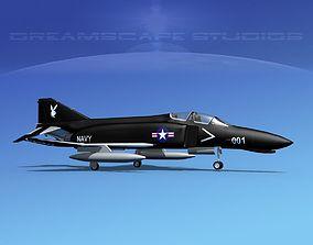 3D model McDonnell Douglas F-4J Phantom II V06 USN