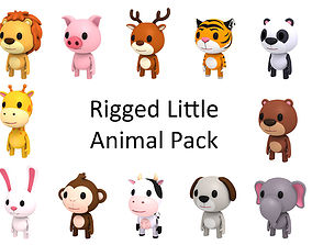 3D model Rigged Animal Pack