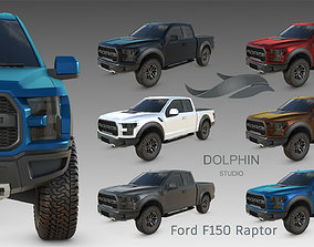 Ford F150 Raptor 2017 3D model game-ready